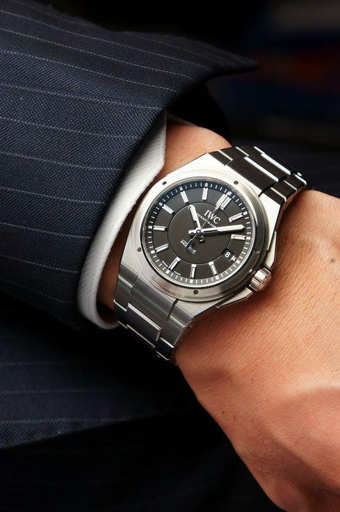 iwc ingenieur black dial metallic bracelet
