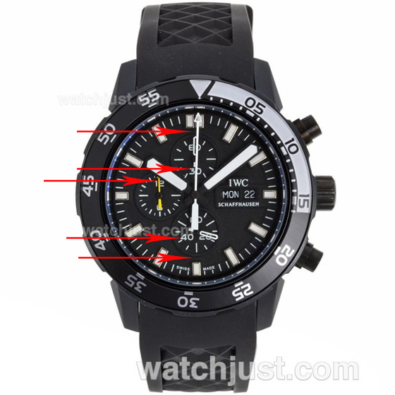 Fake IWC Aquatimer Chronograph Edition Galapagos Islands Replica Watch
