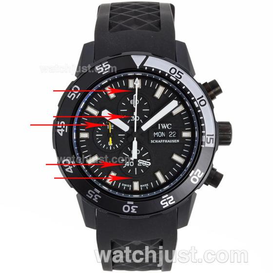 Fake IWC Aquatimer Chronograph Edition Galapagos Islands Replica Watch