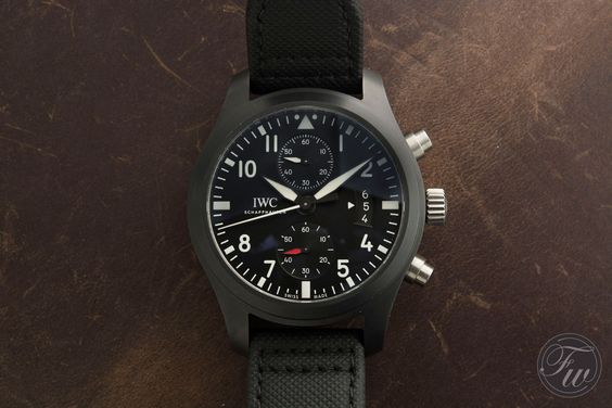 fake iwc pilot chronograph top gun
