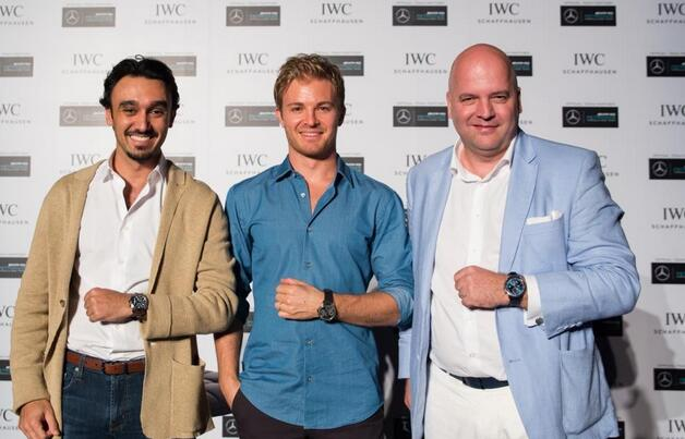 Formula 1 Driver Nico Rosberg Talks Sports With Replica Iwc Schaffhausen Watch