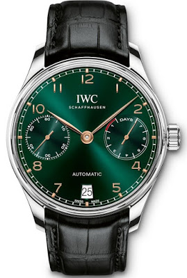 IWC Schaffhausen with green dial