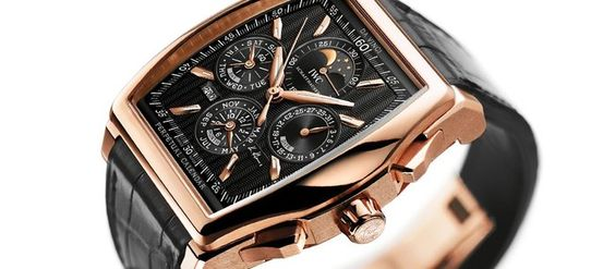 replica iwc da vinci perpetual calendar kurt klaus rose gold watch
