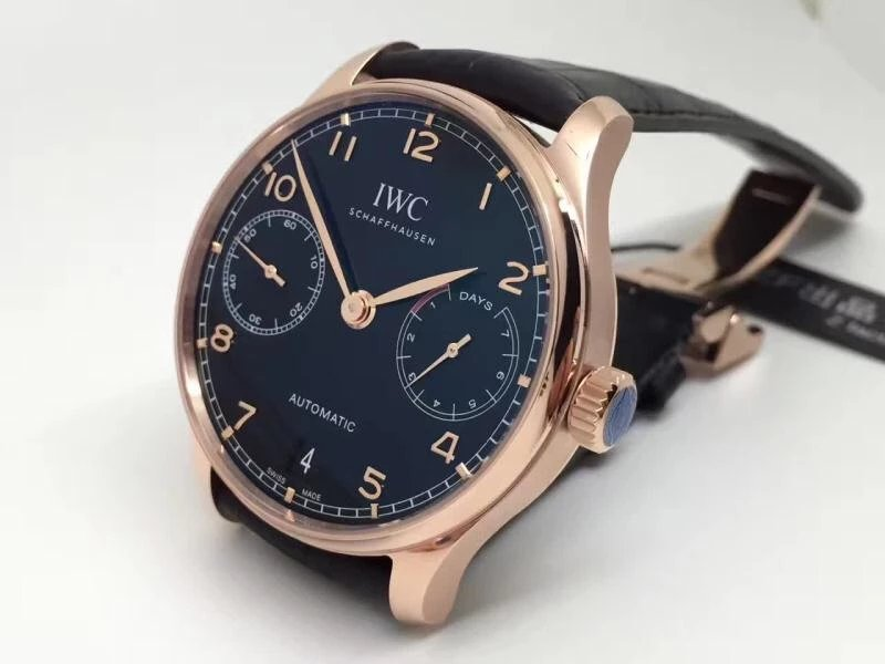 Replica IWC Portuguese 7 Days Power Reserve Rose Gold