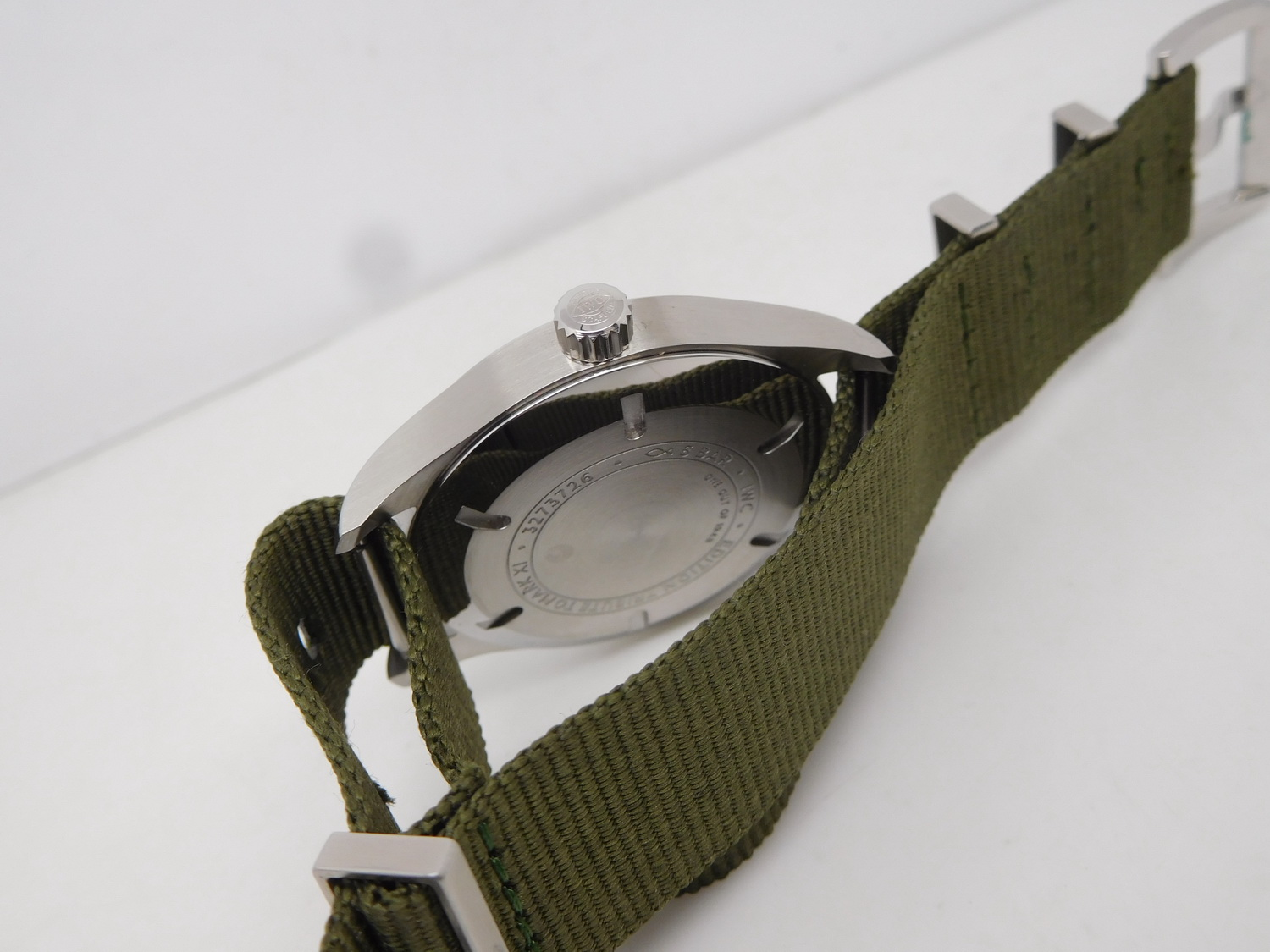 Replica IWC Mark XI Green Nylon Strap