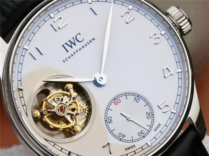 Replica IWC Portuguese Tourbillon White Dial